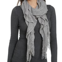 Lurex Ruffle Knit Scarf | Shop Accessories at Wet Seal