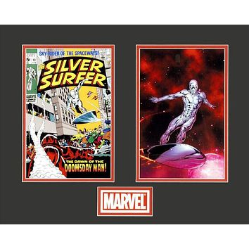 Silver Surfer - Limited Edition Lithocel Diptych from the Marvel Collector Covers Series