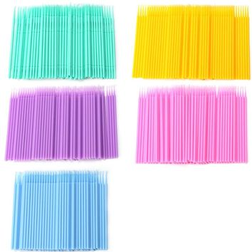 200pcs Bulk Micro Disposable Lip Brush Gloss Wands Applicator 5 color options