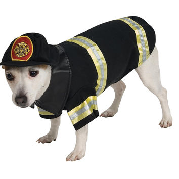 Pet Costume Firefighter Sm