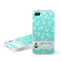 Refuse to Sink Design Snap on Hard Case Faceplate Cover for Apple iPhone 4 / 4S 16GB 32GB 64GB