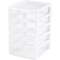 Sterilite Small 5 Drawer Unit- White (Available in Case of 4 or Single Unit) - Walmart.com