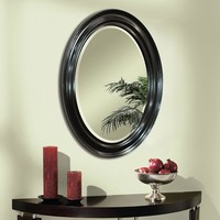 Espresso Oval Wall Mirror (8666) - Illuminada