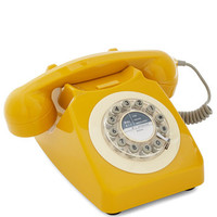 ModCloth 50s Ring True Desk Phone in Yellow