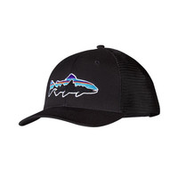 Patagonia Fitz Roy Trout Trucker Hat- Black