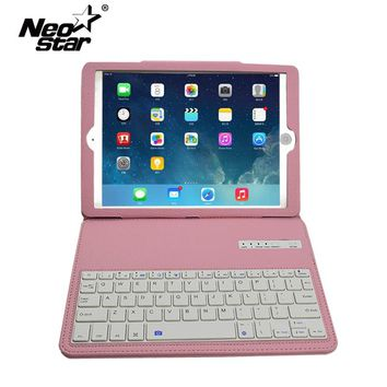 For iPad Air 2 For iPad 5 6 Removable Wireless Bluetooth Keyboard Leather Case Stand With Screen Protecter Stylus Pen