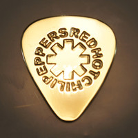 Red Hot Chili Peppers  Brass Guitar Pick by ColemanCustomPicks