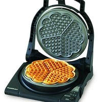 Chef's Choice M840 WafflePro Express Waffle Maker, Traditional Five of Hearts