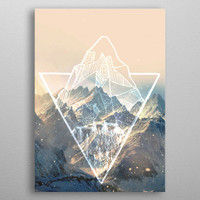Snowy mountains by josefien mertens | Displate