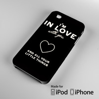 One Direction 1D Little Things Lyrics A0727 iPhone 4S 5S 5C 6 6Plus, iPod 4 5, LG G2 G3, Sony Z2 Case