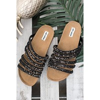 Everyday I'm Sparklin' Not Rated Slides (Black)