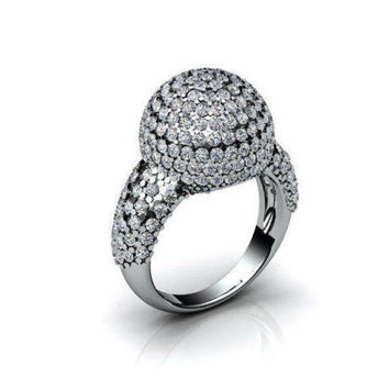 Diamond ring Multi stone ring Bella ring 221 Diamonds D-E VVS in White gold