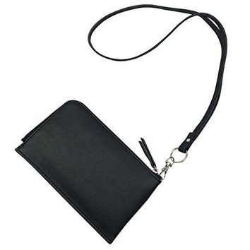 Badiya Womens Soft PU Leather Cellphone Purse Bag with Lanyard Easy to Carry
