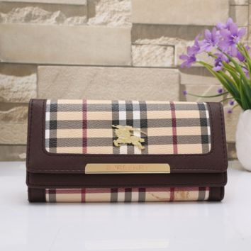 BURBERRY LEATHER PURSE WALLET