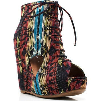 southwest-print-cut-out-booties AZTEC - GoJane.com