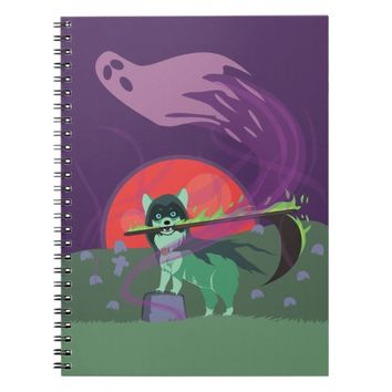 Grim Reaper Puppy Notebook