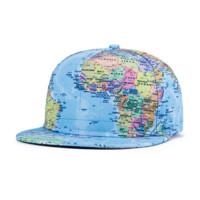 World Map Hip-hop Baseball Cap Hat