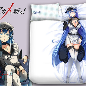 New Esdeath - Akame ga Kill Japanese Anime Bed Blanket or Duvet Cover with Pillow Covers Blanket 1