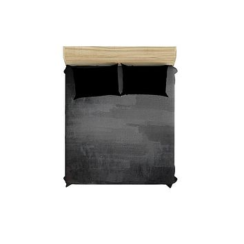 Gray Grunge Duvet Cover