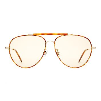 Crap Eyewear - Road Crue Brushed Gold + Havana Tortoise Sunglasses / Gold Tint Lenses