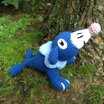 Pokemon Inspired: Alola Starter, Popplio, the Water Type!  (Crochet Plushie/Plush Toy) - MADE TO ORDER!