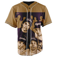 NWA Brown Button Up Baseball Jersey