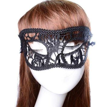 DKF4S 3PC Festive Supplies Sexy Mask Black Fancy Dress Lace Mask Masquerade Halloween Mask Mesh Floral Costume Female Masks Party