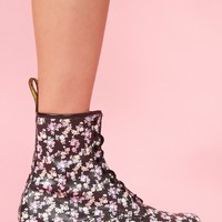 Classic 8 Eye Boot - Black Floral