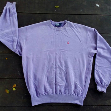 Polo Ralph Lauren Sweatshirt small pony vintage 90s medium