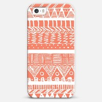 Boho Coral Aztec iPhone 5s case by Organic Saturation | Casetagram