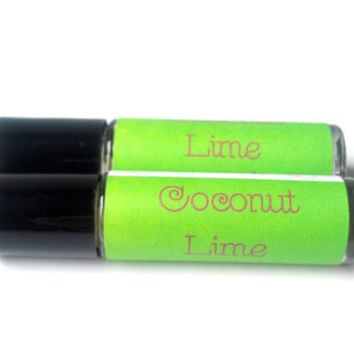 Coconut Lime Perfume Oil, Roll On Perfume Oil by ZEN-ful, Women's Fragrance, Gift Ideas, Gifts For Her