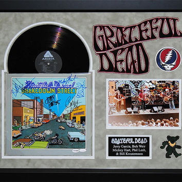 Grateful Dead - Shakedown Street - Signed Album LP Custom Framed