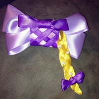 Disneys tangled inspired Rapunzel bow