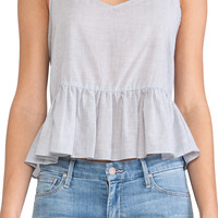 BCBGeneration Ruffle Tank in Blue