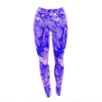 "Claire Day ""Purple"" Lavender Yoga Leggings"