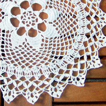 Eco Crochet doily, lace doilie, table decoration, place mat, center piece, doily tablecloth, table runner, napkin, white Natural Linen