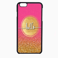hello gold glitter FOR IPHONE 6 CASE NEWEST **
