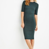 Contemporary Ribbed Knit Bodycon Dress