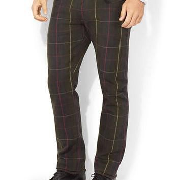 Polo Ralph Lauren Varick Slim-Straight Plaid Jeans