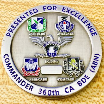 United States Army Civil Affairs and Psychological Operations Command Challenge Coin
