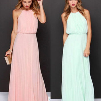 2016 Women Chiffon Maxi Dress Elegant Off the Shoulder Roupas Femininias Summer Long Dresses = 4756874628