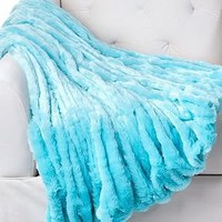 Z Gallerie - Lazo Throw - Aquamarine
