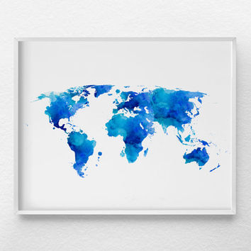 World Map Art, World Map Poster, Travel Poster, Large World Map, Travel Art, Nursery Art, Travel Print, World Map Print, Dorm Decor, 0354