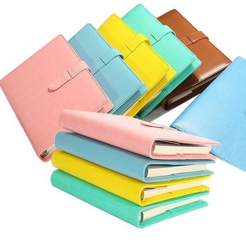 A5 PU Leather Spiral Notebook Agenda Planner Organizer Dokibook Notebook Loose Leaf Personal Daily Notepad Office Stationery