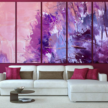 Oil Paints Unique Wall Decor - Painting Abstract Canvas Print, Colorful Abstraction Modern Art for Home or Office Decoration
