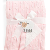 Kids Cable Knit & Sherpa Baby Blanket - Blankets & Throws - T.J.Maxx