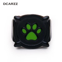 Chat Noir Green Pawprint Ring for Men Miraculous: Tales of Ladybug & Cat Noir Cartoon Jewelry Gift for fan/Cosplay Accessory