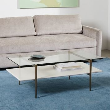 Mid-Century Art Display Coffee Table - Cloud