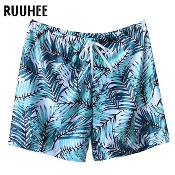 RUUHEE Brand Swimming Swim Briefs Trunks For Men Plus Size Summer Beach Men Swim Trunks Male Print Sport Loose Beach Short