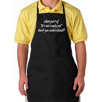 Fathers Day Black Aprons for Men With Pockets
